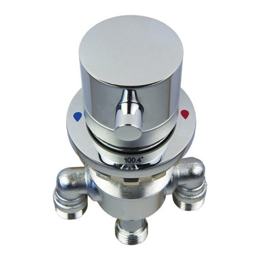 Deck Mount Thermostatic Control Valve for Walk-In Bathtub