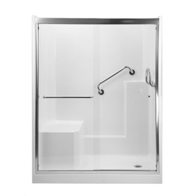 WALK-IN SHOWERS WITH MOLDED SEAT